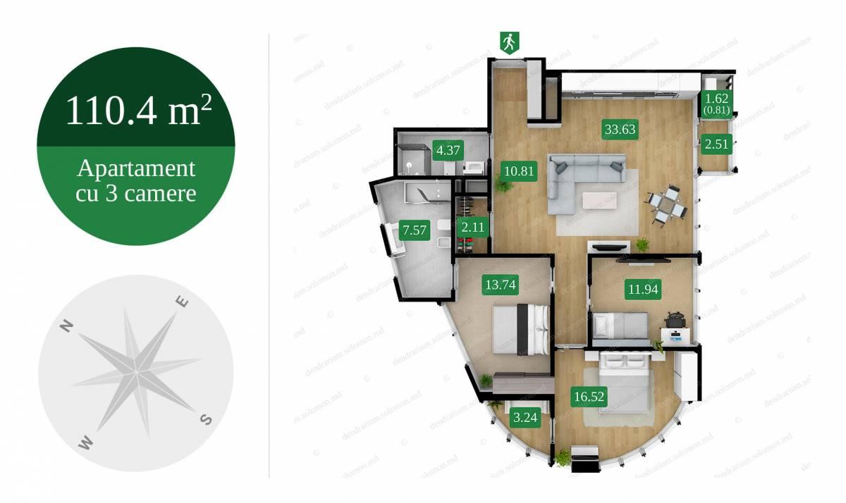 "Complex rezidențial ""Solomon Dendrarium""-10"